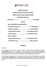 Eric Gitari v NGO Board & 4 others [2015], Petition 440 of 2013