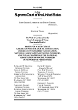 American Psychological Association, Brief for Amici Curiae, Lawrence v. Texas (January 2003)