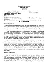 Ang Ladlad v Commission on Elections, Supreme Court of the Philippines, 2010