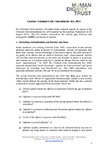 Briefing on Gambia's Criminal Code (Amendment) Act, 2014