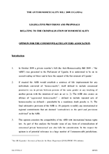 The Commonwealth Lawyers' Association's Opinion on the Uganda Anti Homosexuality Bill 2009