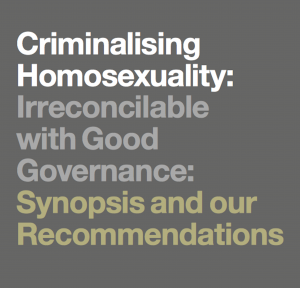 Criminalising Homosexuality: Irreconcilable with Good Governance
