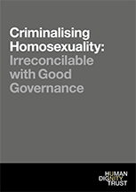 Criminalising Homosexuality: Irreconcilable with Good Governance – Full Report