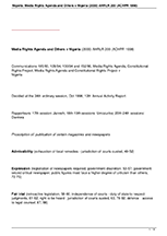 Media Rights Agenda and Others v Nigeria (2000) AHRLR 200 (ACHPR 1998)