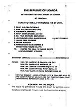 Oloka-Onyango & Ors v Attorney General 2014