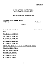 Puttaswamy v. Union of India WRIT PETITION (CIVIL) NO 494 OF 2012