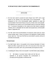 Submission on the Draft Commonwealth Charter 2012