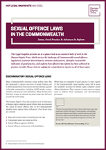 Sexual Offences in the Commonwealth: Issues, Good Practice & Advances in Reform